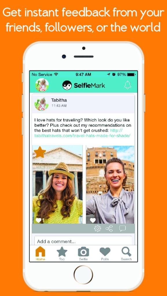 selfiemark app selfie polls