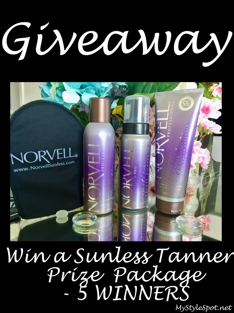 Win a norvell sunless tanner prize package -5 winners