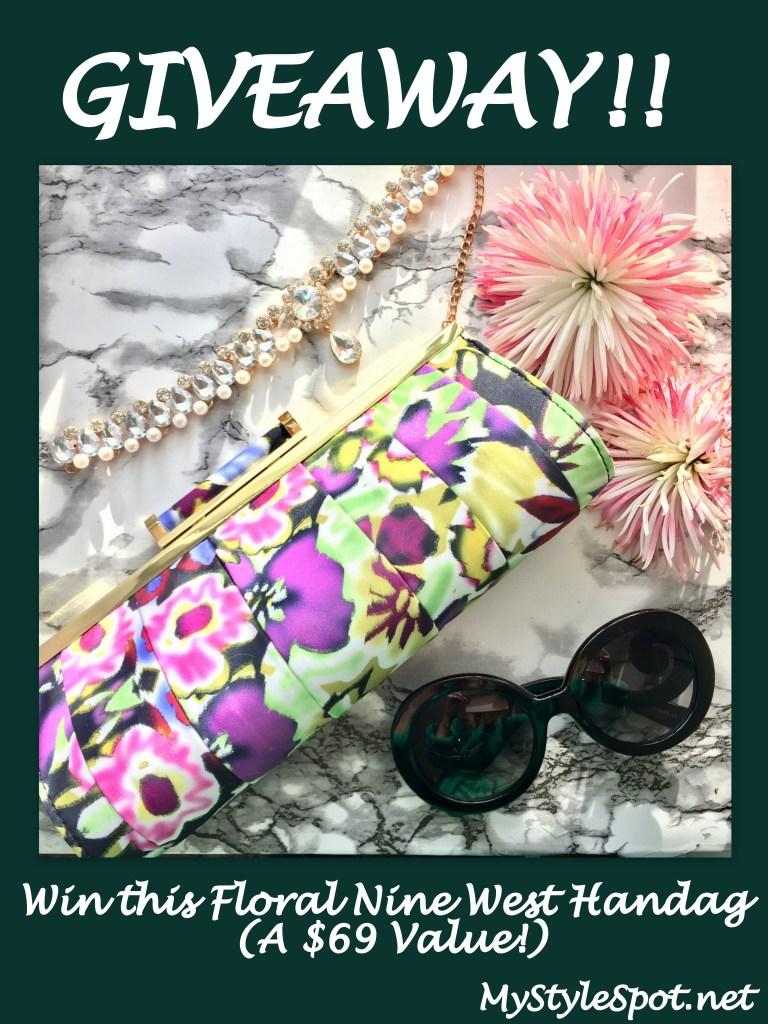 Giveaway: Win a floral handbag