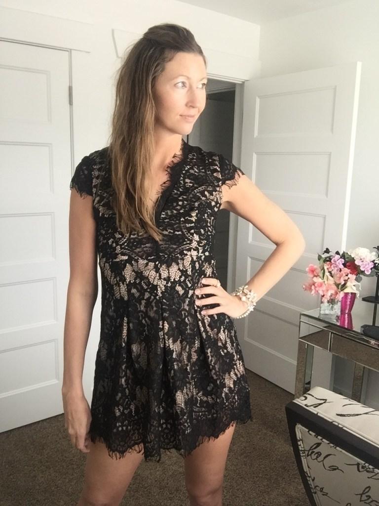 Sexy Black Lace Mini Dress