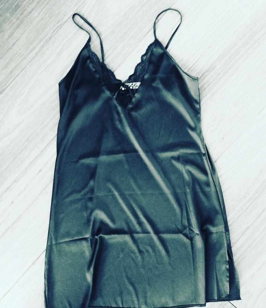black chemise lingerie