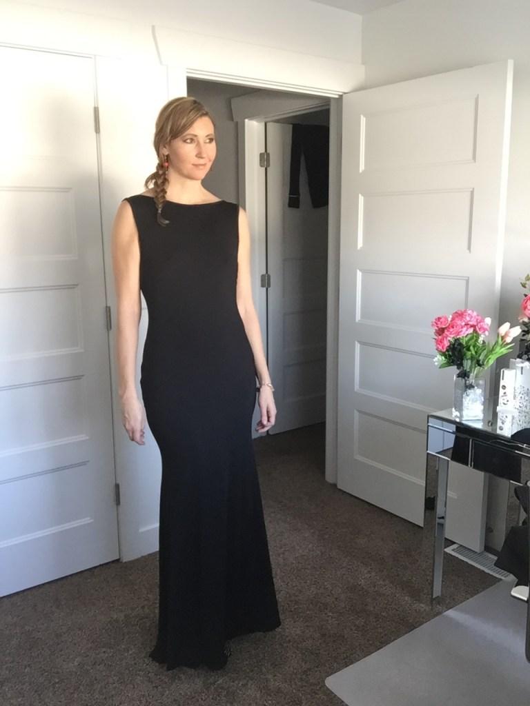 Elegant Long Black Gown