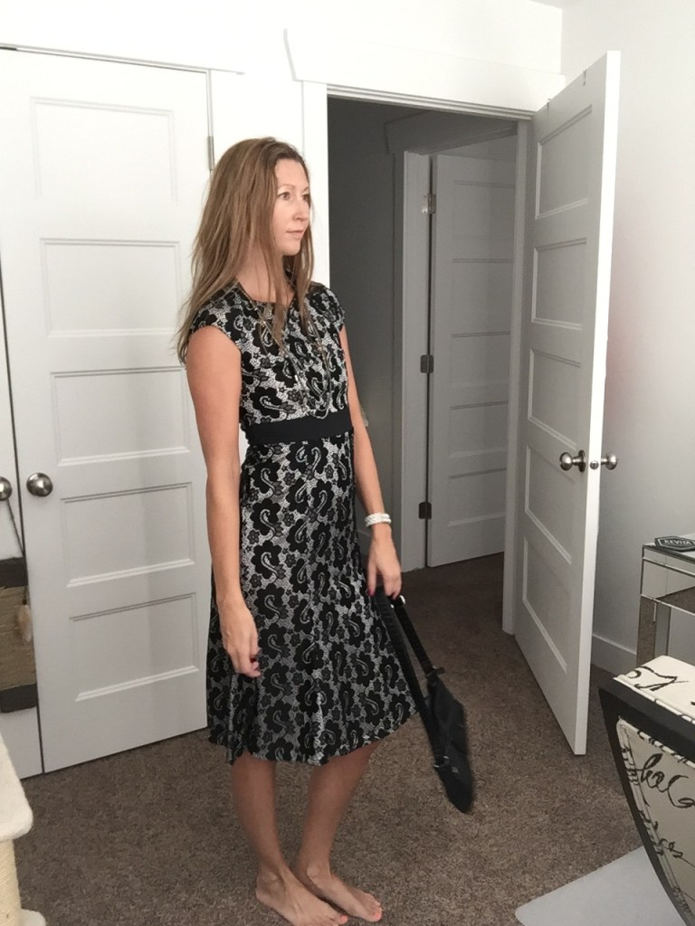 Pretty Black Lace Midi Dress