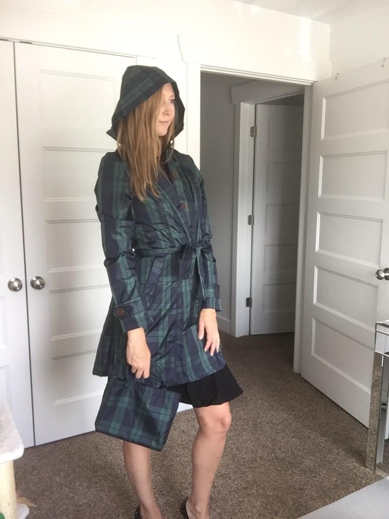 Cute plaid rain coat for Fall