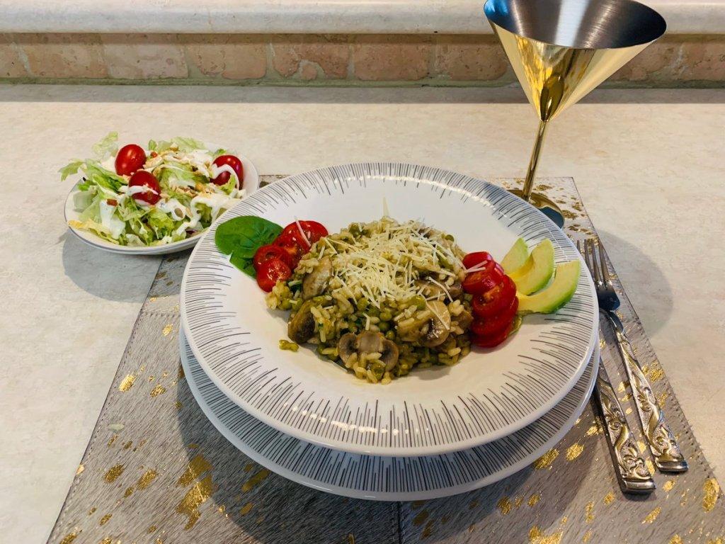 Easy Yummy Vegan/Vegetarian Mushroom Risotto Recipe