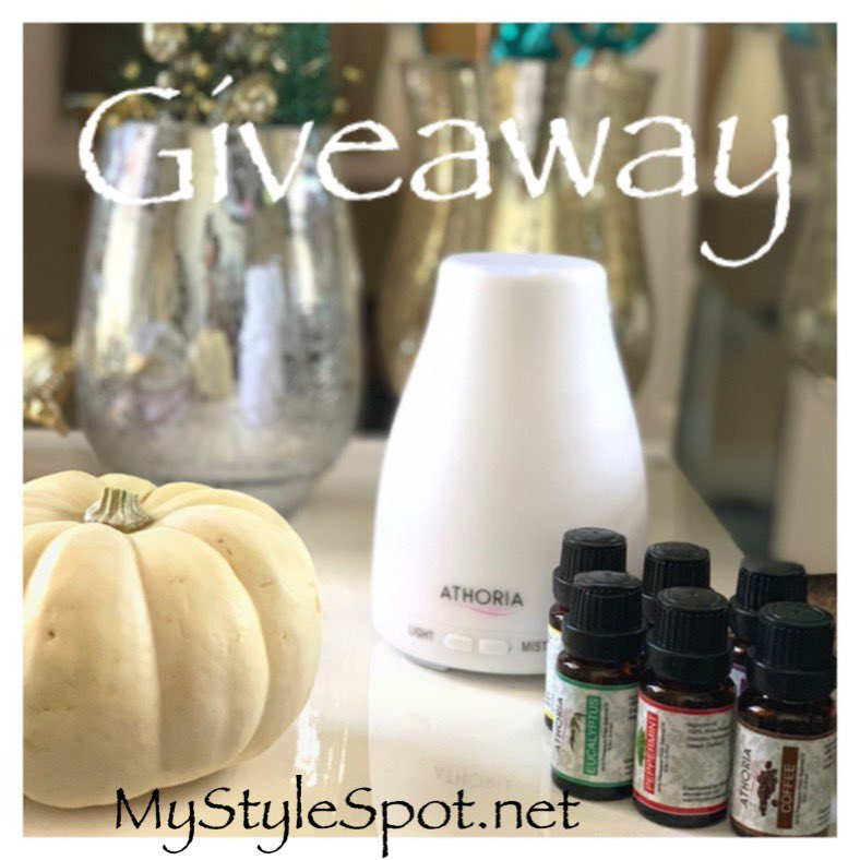 GIVEAWAY: Win an Athoria Essential Oil Diffuser and 6 Piece Essential Oil Set