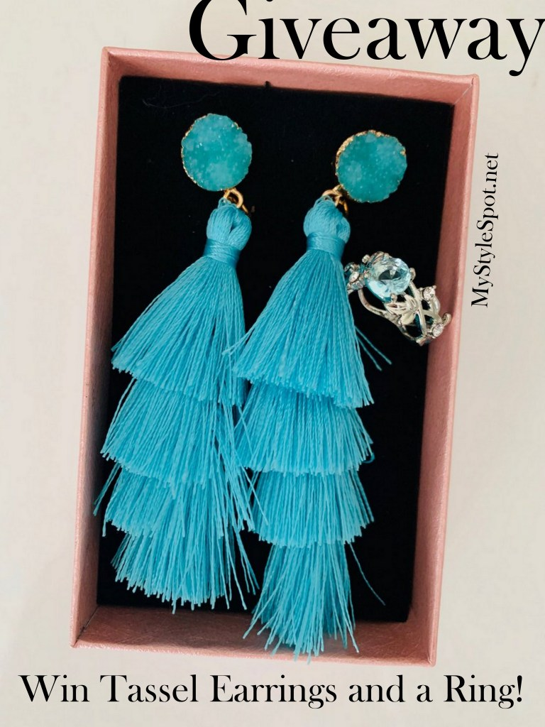 enter to win beautiful tassel earrings and a ring