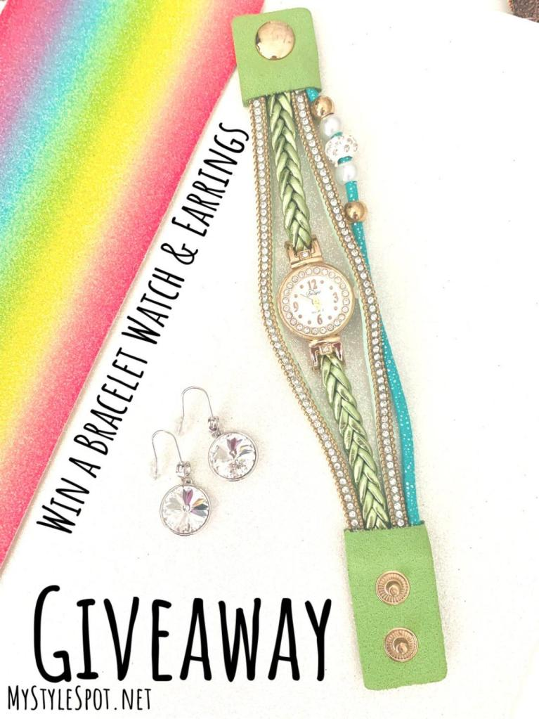 GIVEAWAY: Win a Chic Bracelet Watch & Earrings
