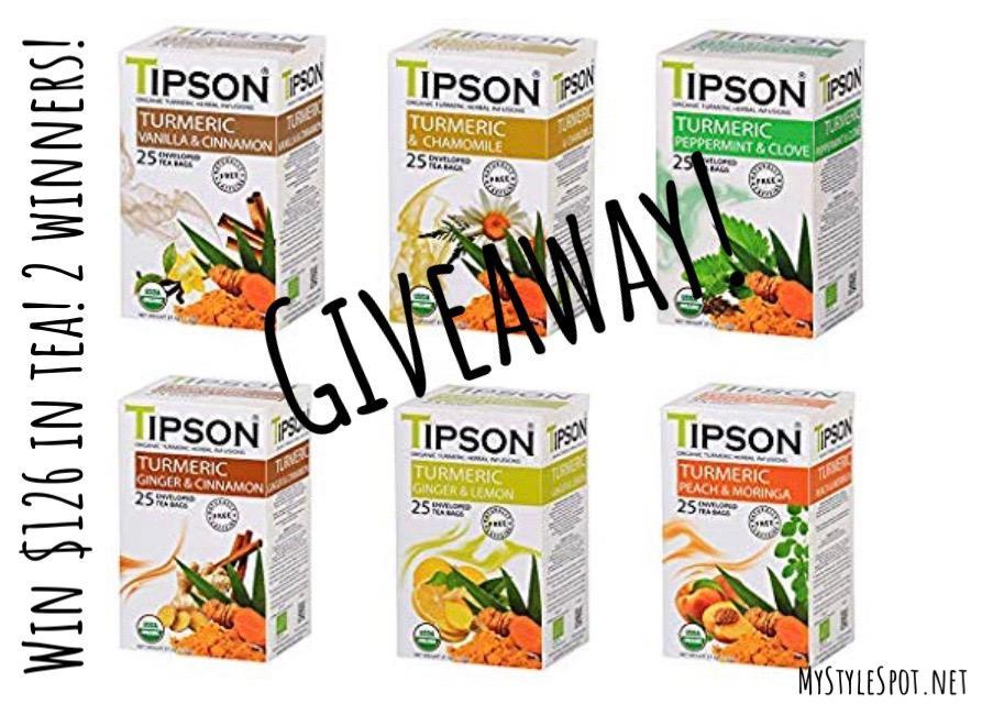 Enter to win $128 in tipson tea - 2 winners!