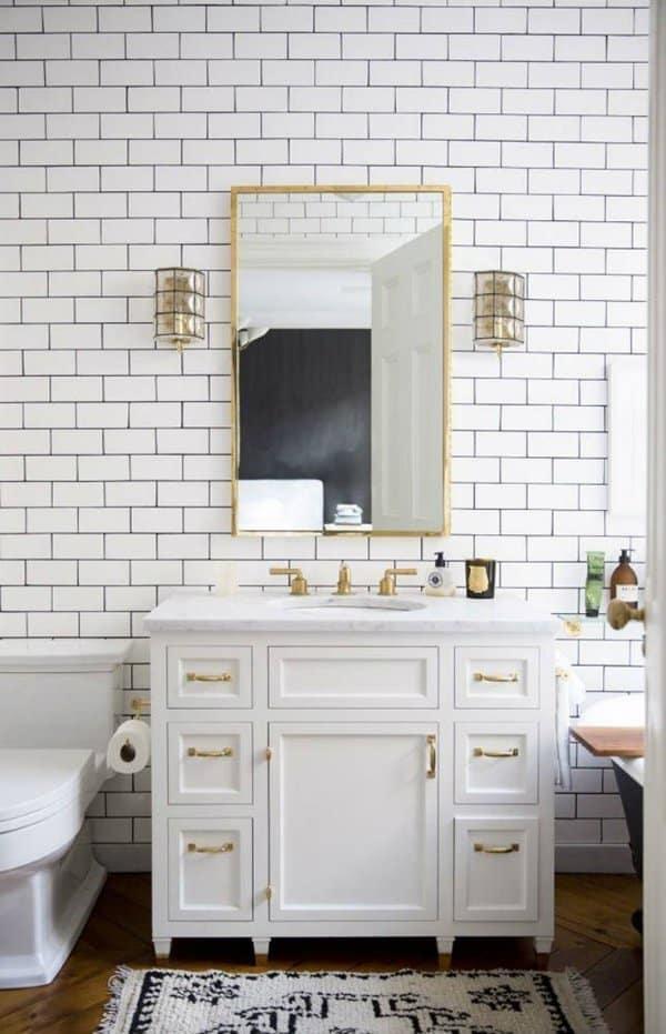 White bathroom ideas with subway tile on Bathroom Ideas Subway Tile  id=42781