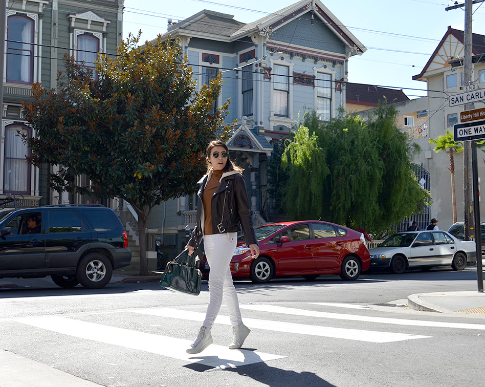 Sunday Funday-Leather-jacket-San-Francisco-Style-KarlaVargas-Style-Sfstreetstyle-Fallstyle-fall2016-falllook-whitejeans