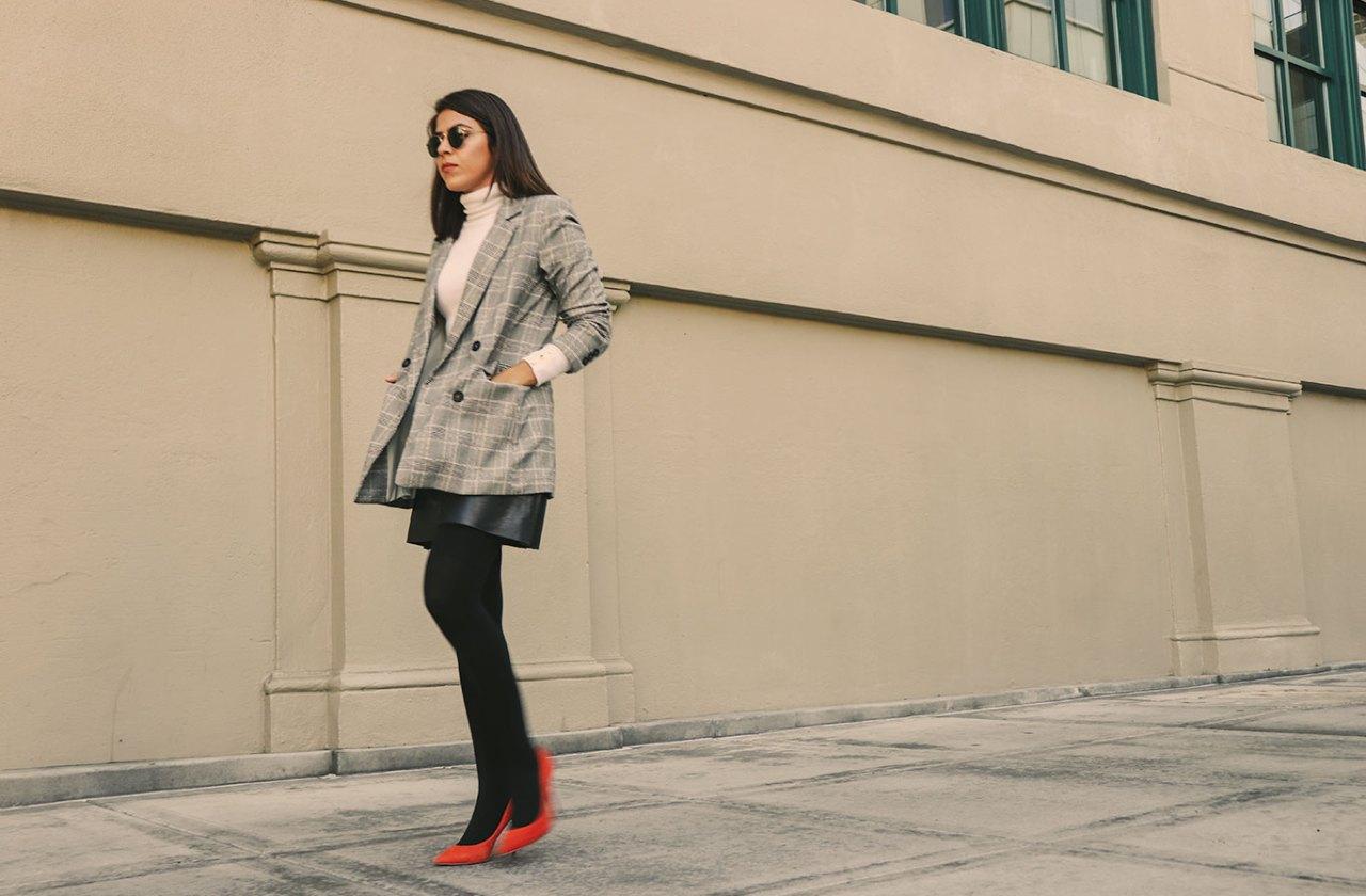 plaid-blazer-orangeshoes-howto-sustainable-sustainablefashionblogger-karlavargas-styleblogger-fallstyle2018-falllook