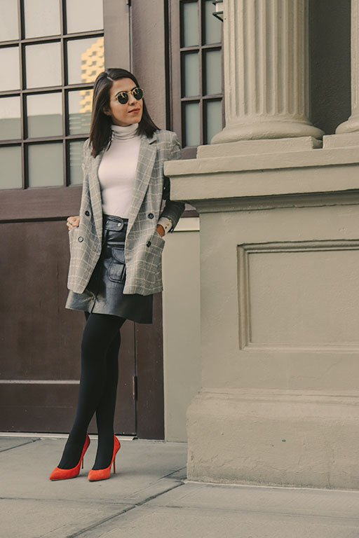 plaid-blazer-orangeshoes-howto-sustainable-sustainablefashionblogger-karlavargas-styleblogger-fallstyle2018-falllook