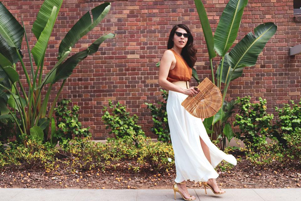 Cultgaia Bag and gold high heel sandals