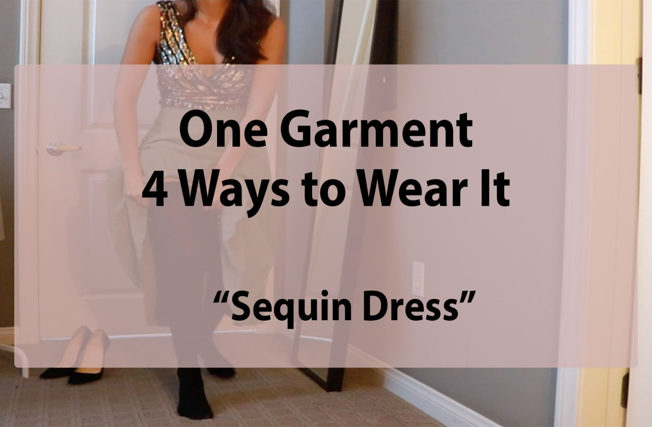 multiple ways to wear a sequin dress