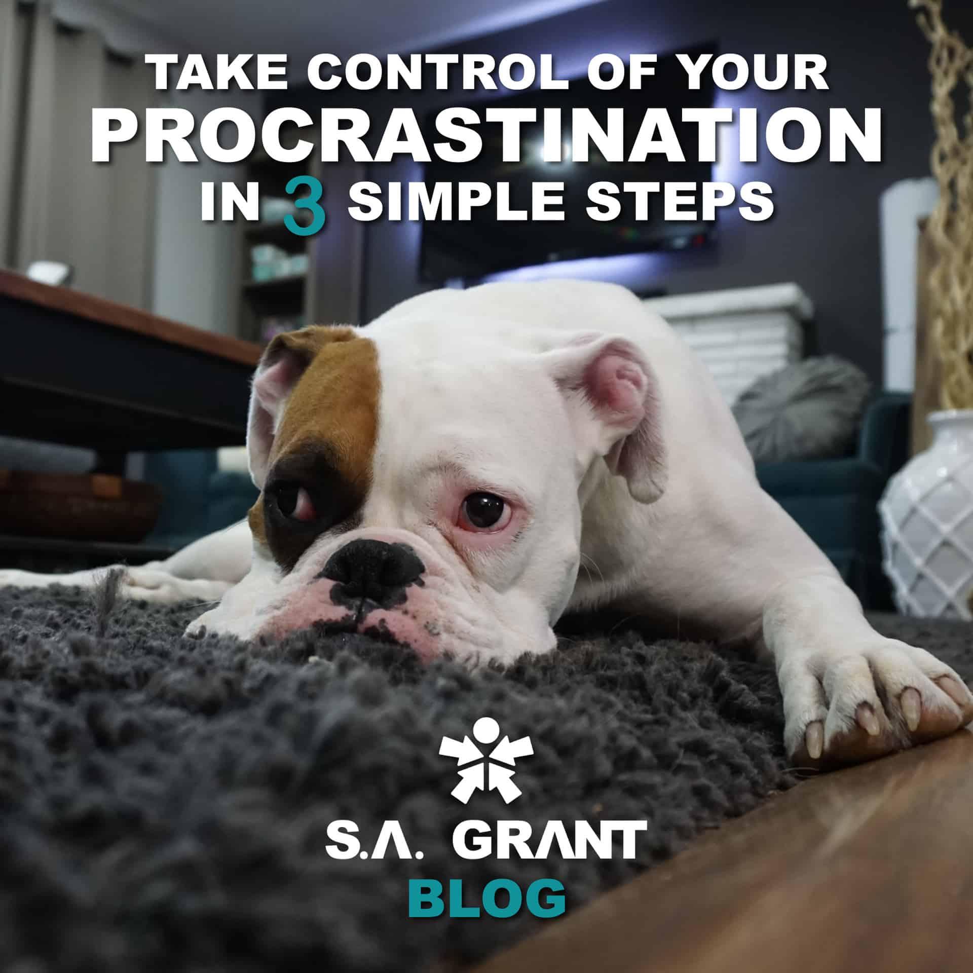 Take Control Of Your Procrastination In 3 Simple Steps - sagrant.com Blog #Procrastination