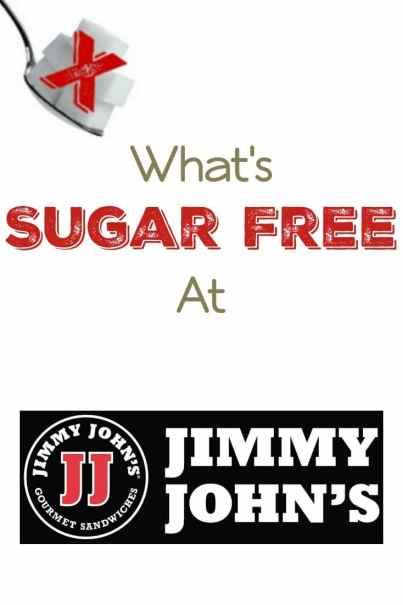 What's Sugar Free at Jimmy John's?