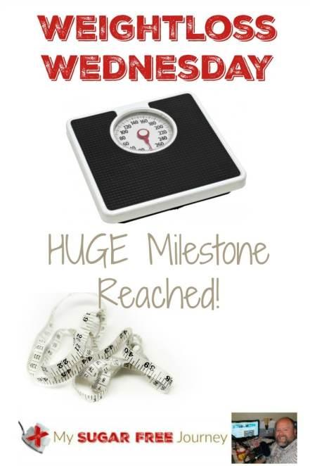 Weightloss Wednesday Miletone