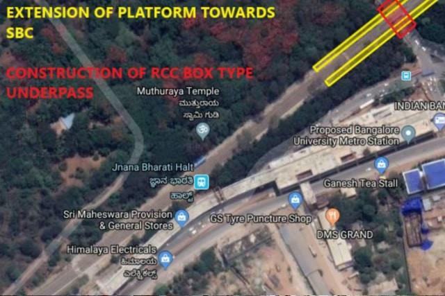 Jnanabharathi Halt Station Platform Extension