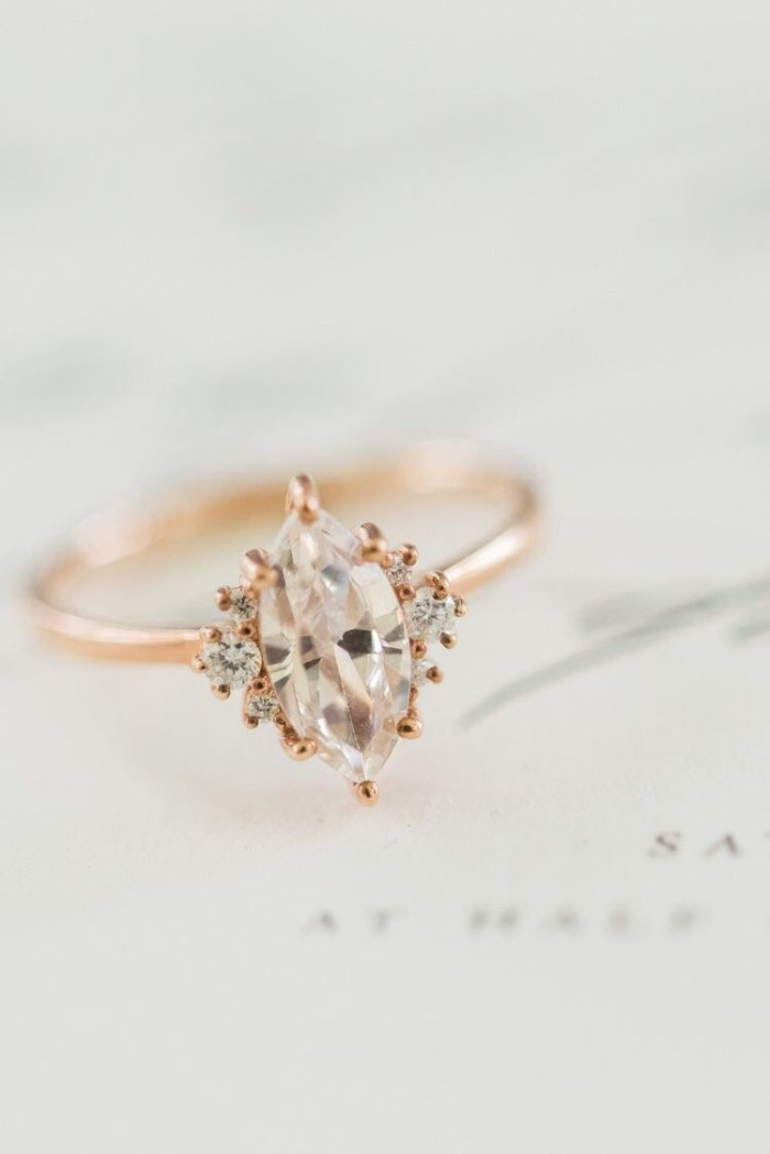 bridal unique helloring rose wedding gift vintage deals art etsy antique gold morganite women ring shop on jewelry for promise diamond engagement rings jewellery anniversary deco flower set