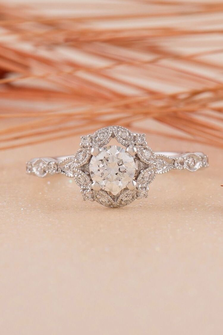 rare jewelry diamond antique ring authentic rings engagement vintage cut cuts cushion artistic