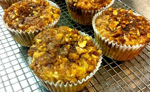 Apple streusel muffins.