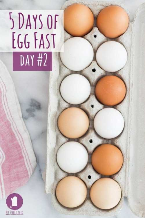 Egg Fast Five Days Day 2. How many eggs do you eat on an egg fast? Can you lose weight by eating only eggs? Is egg fast safe? Learn how to break a weight loss plateau using egg fast!