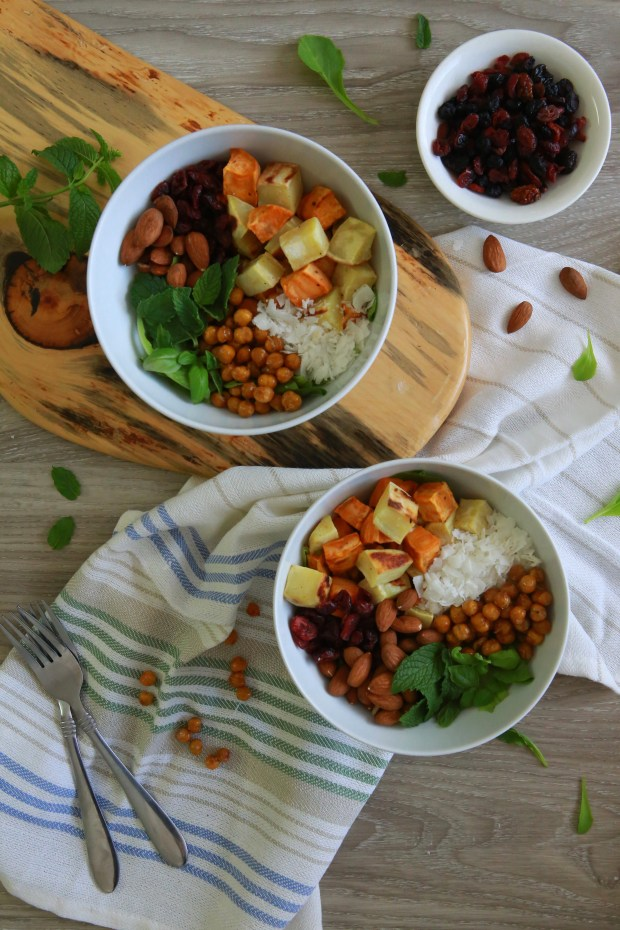 Protein packed sweet potato bowl