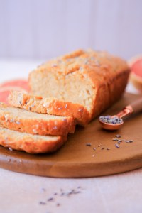 Beautiful citrusy sweet grapefruit lavender loaf