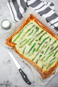 Quick and easy cheesy asparagus tart | puff pastry tart | savoury tart | vegetarian