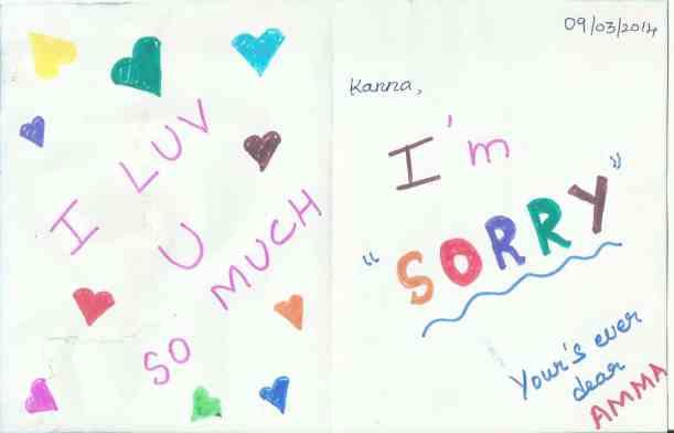 Sorry ... My dear