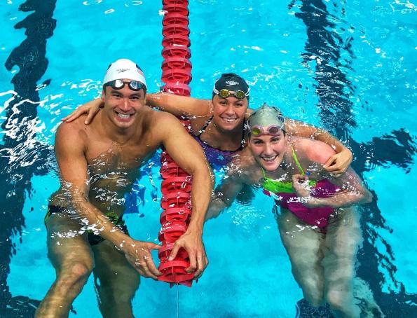 Wearing a swim cap helps you swim!