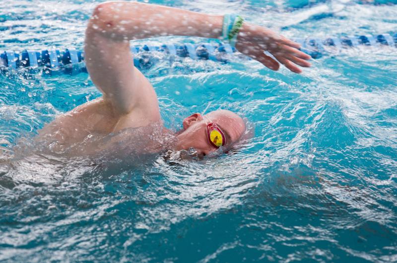 Vasily Levchenko swimming freestyle