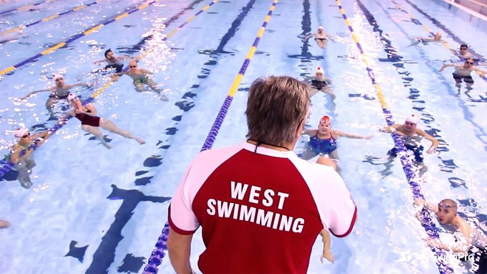 Masters swim coach
