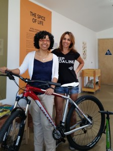 Jackie from Jenson USA and Kim Cobb, nature center staff