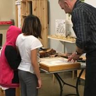 Visitors got up close with specimens Dr. Hoddle brought