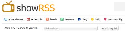 ShowRSS Screenshot