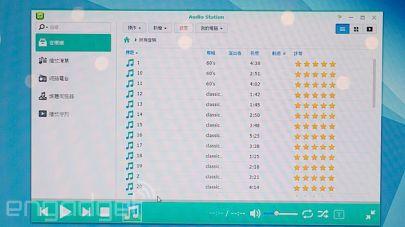 De iTunes Scores achter de liedjes.