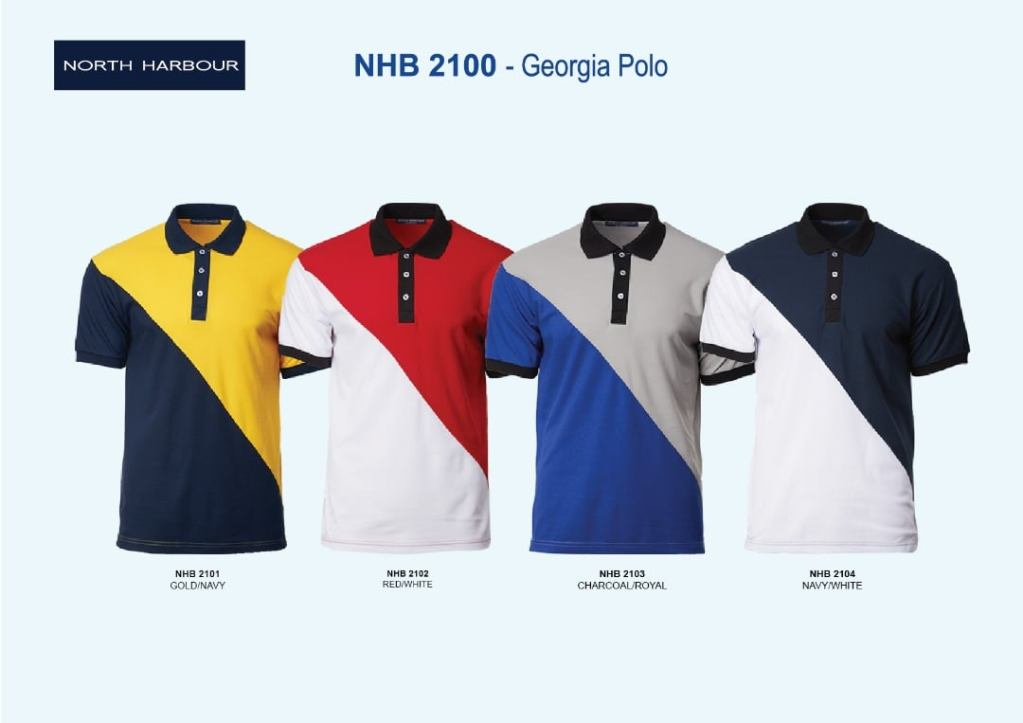 NHB2100 north harbour georgia polo shirts plain