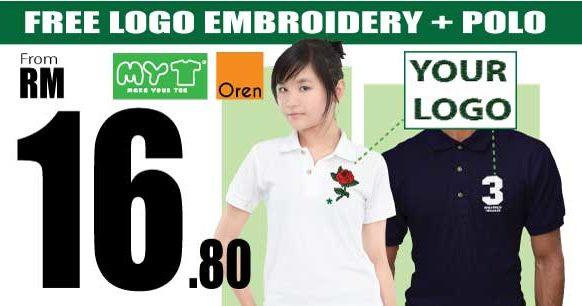 Embroidery + Polo Shirts Promotion