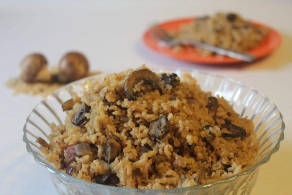 My Tableof Three Mushroom Brown Rice