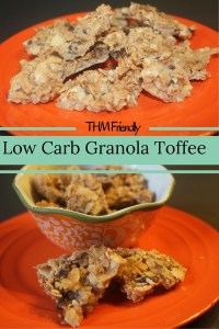 Low Carb Granola Toffee