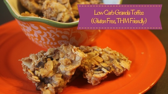 Low Carb Granola Toffee from My Table of Three