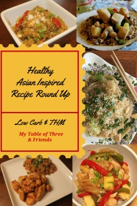 A great round up of low carb and THM Asian Inspired Dishes