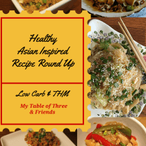 These great recipes are mostly low carb and THM. A great way to enjoy Asian dishes at home.