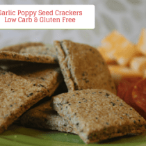 "These Garlic Poppy Seed Crackers are low garb and gluten free. They are also THM ""S"" friendly."
