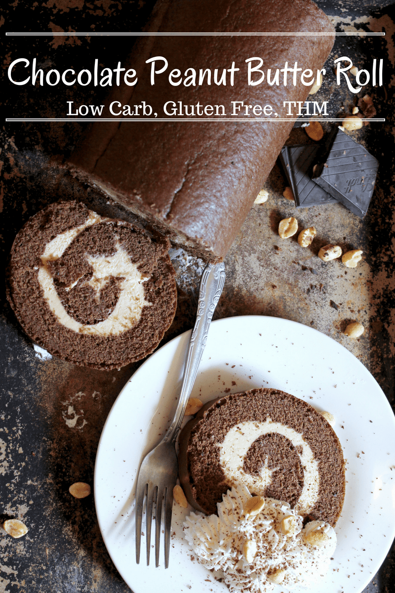 Chocolate Peanut Butter Roll Low Carb Gluten Free My Table of Three
