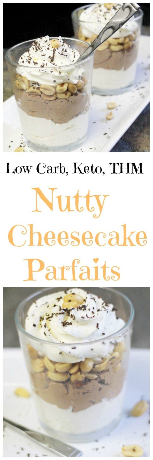 Nutty Cheesecake Parfaits || No Bake, Easy Dessert, Low Carb, THM