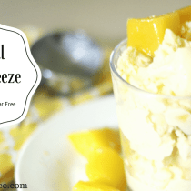 "Tropical Mango Freeze || Low Fat Dessert, Frozen Dessert, Low Fat, THM ""E"""