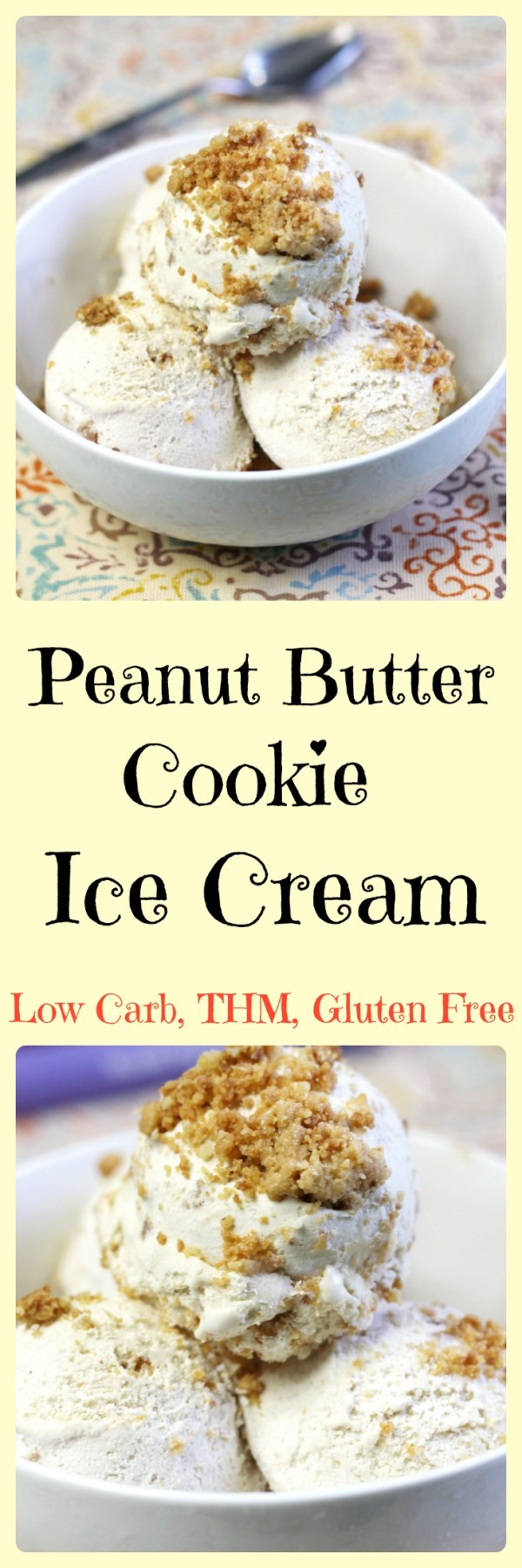 Peanut Butter Ice Cream || Low Carb, THM, Gluten Free, Sugar Free